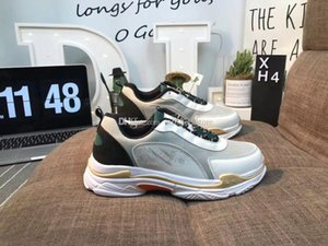 hot sale Luxury Designer Sneakers Mens Women Triple S Bow type Casual Sports Shoes INS Paris skecer Milan Fashion Shoes free shippings 6VLHW