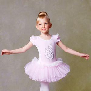 Clásico Pink Lentejuelas Ballet Dress Girl Kids Swan Lake Ballet Disfraces Bailarina Niños Baile Ropa Ropa Vestidos Chicas