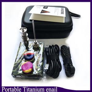 المحمولة التيتانيوم enail الكهربائية dab مسمار pid تحكم e مسمار dnail عدة الشمع المرذاذ 16 ملليمتر 20 ملليمتر النفط تلاعب dabber صندوق زجاج بونغ