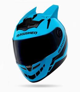 MALUSHEN capacete da motocicleta rosto completo
