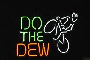 Presente Xmas Logo New Condição Do The Dew Mountain Bike Beer Bar real Neon Light Sign Fast Ship