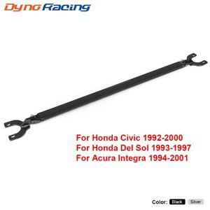 Strut Bar Negro trasera para Honda 92-00 EK Cívico EG / 93-97 Del Sol / 94-01 Integra DC2 superior trasera Strut Brace Bar