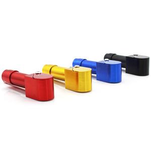 Brand New Art und Weise 90MM Metall Tabakpfeifen-Pfeife Neuheit-Einzelteile Geschenk Herb Aluminiumlegierung Druck-Stick-Mundstück VT179