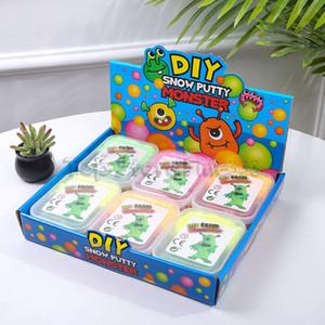 Snow Putty Monster 6 Colores Modelado Arcilla Niños Juguetes Educativos Tempranos Juego de Barro Copo de nieve Puzzle Educativo Juguetes Infantiles Caja de Plástico