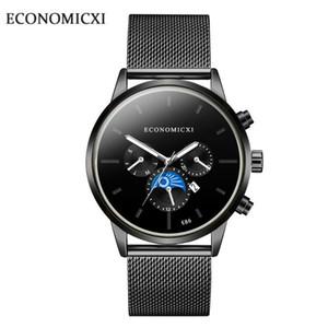 ECONOMICXI simple reloj del concepto de la manera del ocio de los hombres de moda de Corea del Estudiante Shi Ying impermeable de los hombres del reloj