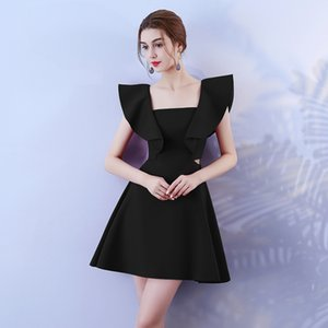 Short Microfiber Fashion Young Girl Single Summer Cocktail Dresses Ladies Prom Party Dresses Elegant Evening Party Dress 9045