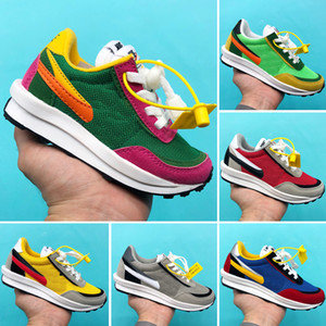Childrens Sacai x LDWaffle niños zapatos Correr Niño Niña Verde Gusto zapatilla de deporte de pino LDWAFFLE / SACAI Nueva LDV Waffle entrenadores deportivos