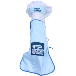 Childs Kids Chef Hat Apron Cooking Baking Boy Girl Chefs Junior Gift (Blue) Other Housekeeping Organization