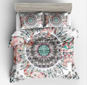 yastık kılıfı AU kral Yatak bedline ile Fanaijia 3adet Bohemian Yatak Seti kraliçe Mandala tüy Baskı Nevresim seti