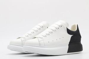 Novos designers Color Shoes Plataforma de couro Trainer Mens Mulheres Snake Skin 3M Sapatos de Veludo Chaussures Scarpe Tênis com caixa