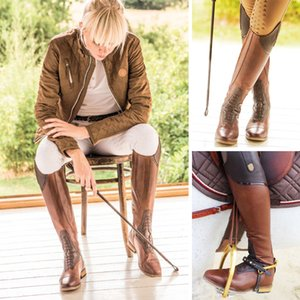 Женщины Конный спорт Езда Boots High Rider над коленом сапоги для женщин Узелок Кожа Knee High Plus Размер 40 41 42 43