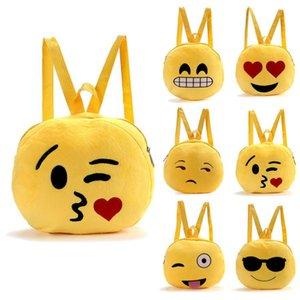 Toptan-En İyi Hediye Hcandice Sevimli Emoji İfade Omuz Okul Çocuk Çantası Sırt Çantası Satchel Sırt Çantası Sırt damla gemi bea61011