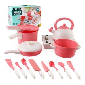 Newest Hot Toddler Girls Baby Kids Play House Toy Kitchen Utensils Cooking Pots Pans Food Dishes Cookware YH2001