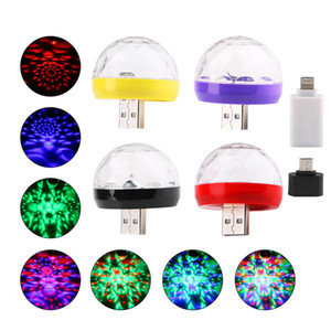 USB Mini Disco Light Party Led de scène DC 5V Portable Cristal Magic Ball DJ éclairage Bar Christmas Party