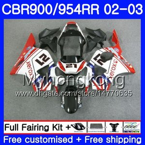 Bodys Pour HONDA CBR900RR CBR 954 RR CBR954RR 02 03 CBR900 RR 280HM.53 CBR 900RR capotage CBR954 rouge chaud
