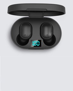 Mini TWS E6S Bluetooth 5.0 Earphones For iPhone Android Devices Wireless Stereo In-Ear Sports Earbuds with LED Digital Charging Box