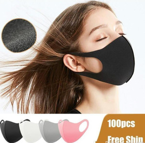 Stock Washabel Mouth Face Mask Black Cotton Anti Dust PM2.5 Respirator K-POP Mask Fashion Reusable Masks for Man Woman Kids Mask FY9041