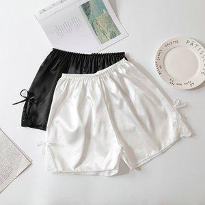 Fashion Silk Lace Underwear Safety Women Soft Short Pants Sleepwear Summer Casual Sexy Charming Pant Skirts Elastic Black 2019