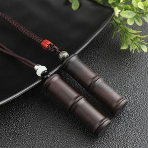 WEIYU Original-Hanmade Sandelholz Frauen Schmuck Bambuspflanze Anhänger Halskette für Liebesbrief / Schrift / Quran Halskette Einlochen