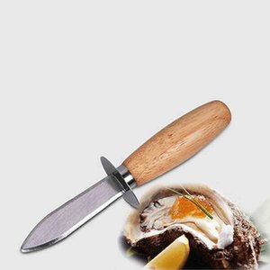 Wholesale Kitchen Accessories Stainless Steel Oyster Knife Wood-handle Oyster Shucking Knife Kitchen Food Utensil Tool KKA7136