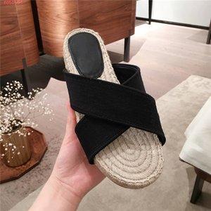 고전적인 숙녀 가죽 짚 길쌈된 신발,평 Fisher man 슬리퍼와 함께 길쌈된 유일한 디자이너는 여성 봄 모델 슬라이드 매일 사용하기에 적합