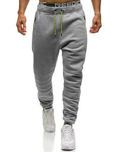 Koşucu Pantolon Sıska Erkekler Moda Uzun Pantolon Katı Renk Açık Casual Pantolon Boys Pantolon Elastik Bel Running