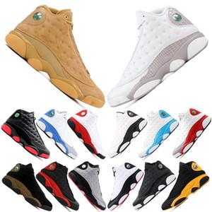 Hommes Blé nike air jordan retro 13 13s Chaussures De Basket-ball Hommes De Qualité Supérieure Chat Noir Playoff Il A Le Jeu Chicago Hyper Royal Bottes Formateurs US5.5-13