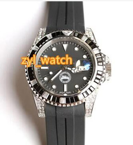 Лучшие мужские часы класса люкс Diamond Fashion Boutique Горячие популярные часы черные резиновые ремни полностью автоматические механические спортивные часы