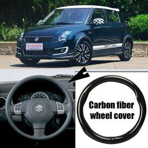 Auto-styling carbonio nero coprivolante auto PVC pelle 38 centimetri per Suzuki rapido