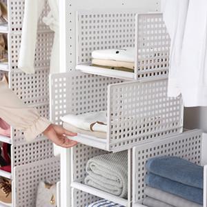Pliage bac de stockage Organisateur bricolage en plastique étagères Cabinet pour Cuisine Bureau Salle TN99 Y200111