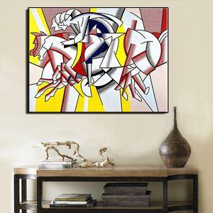 Roy lichtenstein imagina 8 de alta qualidade handpainted hd impressão pop abstrato da arte da parede pintura a óleo sobre tela de decoração para casa mulit tamanho r34.34