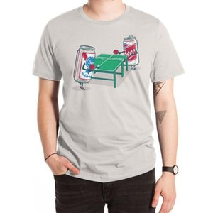 Beer Pong T Shirt giochi di partito ping pong PBR erica partees grigio umore