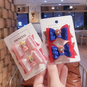 New 3inch Princess Glitter Hair Clips for Girls Fashion Multi-layered Bowknot Hair Accessories Barrettes for Kids Bows