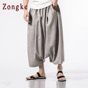 Zongke Chinese Style Cross-Pants Uomo Abbigliamento 2018 Hip Hop Joggers Pantaloni da uomo caviglia Streetwear giapponese Pantaloni 5XL