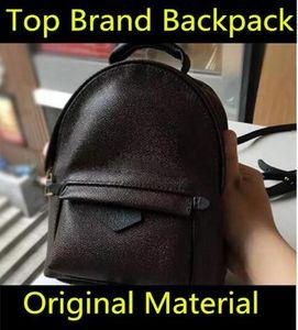 Hight Qualität Frauen Palm Springs Mini Rucksack aus echtem Leder Kinder Rucksäcke Frauen Druck Leder Mini Rucksack 41560 Schultasche