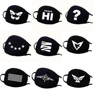 Cotton Mask black white Party Anime Cute Bear Mask Adult Fun Fancy Dress Lower Half Face Mouth Muffle Mask Reusable