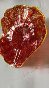 Otel ve Restoran şişmiş cam plaka Moda Murano Cam Duvar Dekoratif Tabaklar Dekoratif Net Cam Tabaklar Bulk