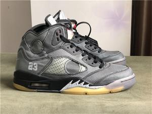 2020 Release X blanca de zapatos 5 zapatos de baloncesto del Mens Negro-Rojo Fuego muselina SAIL hombres 5S zapatillas vienen con OG Caja US7-13