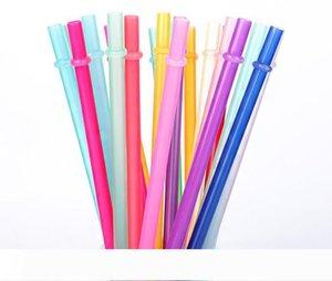 Tek Kamışlar 260 * 6mm 9 Renkler Yaratıcı DIY Plastik Parti Tall Skinny Tumblers için Payet 10.5inch Yeniden kullanılabilir Payet İçme