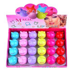 New 6 Color Makeup Natural Plant Sphere Lip Pomade Fruit Lipstick Organic Lip Ball Makeup Lipstick Balm Lip Care
