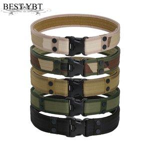 Cintos militares melhor YBT Tactical dos homens da correia Exército Thicken Canvas táticos Outdoor Cintura emergência Hunting ajustável