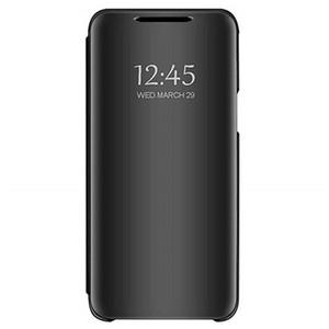 미러 뒤집기 가죽 Xiaomi 8 Lite 용 투명 창보기 스마트 커버 케이스