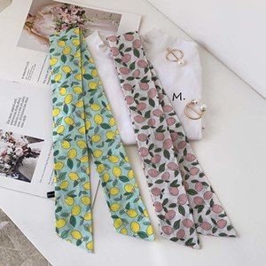 Han Fan Pineapple Printed Cotton and Linen Hand-Feeling Long Scarf Female Spring Summer and Autumn New Girl Scarf Student Headscarf Hair Ban