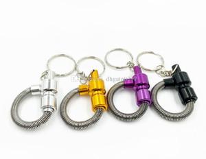 5шт Key Chain Spring курительная трубка Meltal курительные трубки трубы сигареты Очистители Цвет Случайные