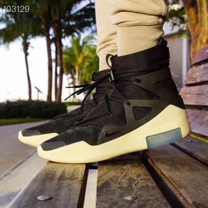 2018 men Fear of God 1 Light Bone white black grey with double-height heel AR4237-002 Original Box 09