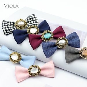 New Delicacy Small Size Butterfly Pin Female Girl Shine Jewelry Metal Glossy Bowtie Wedding Party Shirt Accessories Kids Gift