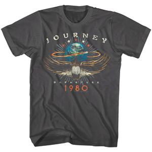 Yolculuk Gidiş Albüm Tur 1980 Erkekler T Shirt Rock Band Vintage Konseri MerchFunny ücretsiz gönderim Unisex Casual Tshirt üst