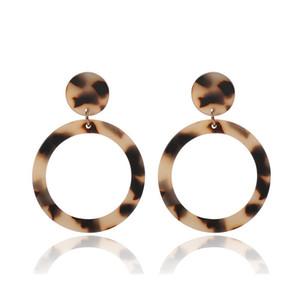 acrilico orecchini cerchio esagerata orecchino leopardo