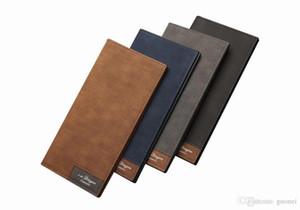 2017 Chegada Nova PU couro Carteiras Para Mens Designer Bifold cartões de bolsa dinheiro de bolso titular Moda Bolsa carteiras modelo ultrafinos