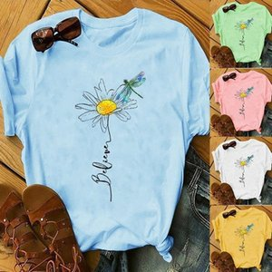 Short Sleeve Print Crew Neck Tees Tops Fashion Female Clothing 2020 Womens Luxury Designer Tshirts Summer
